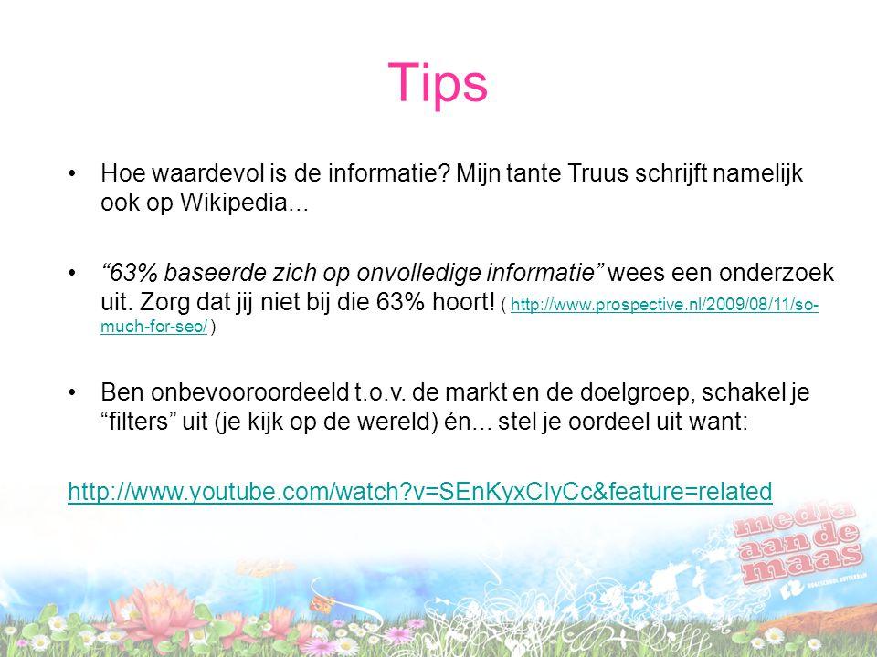 Hoe waardevol is de informatie.Mijn tante Truus schrijft namelijk ook op Wikipedia...