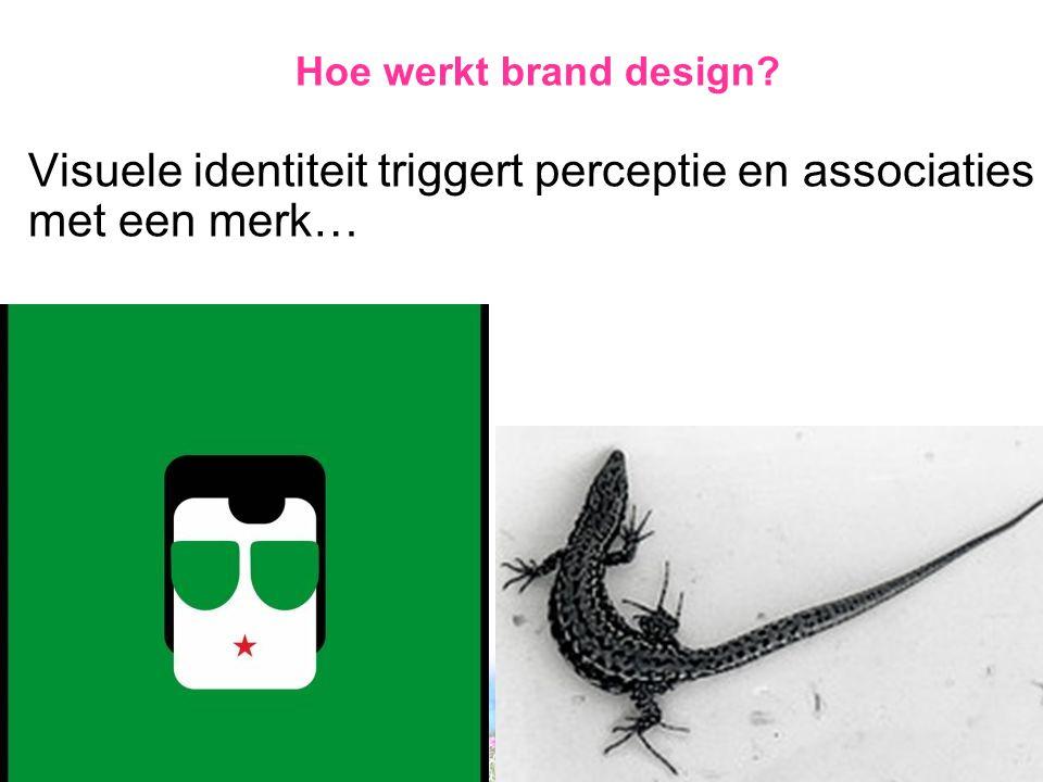 Hoe werkt brand design Visuele identiteit triggert perceptie en associaties met een merk…