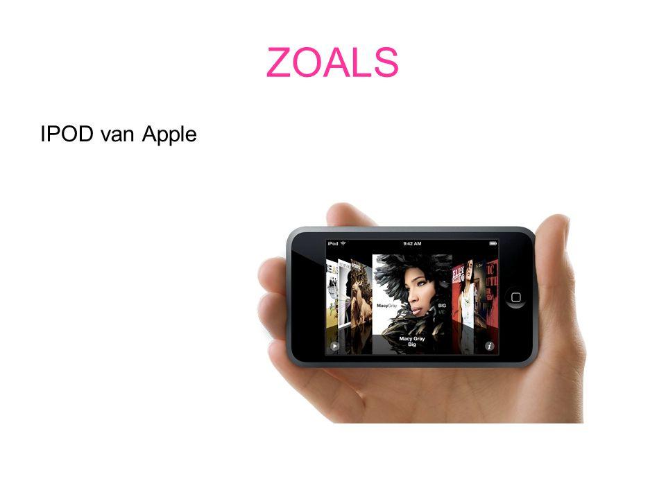 ZOALS IPOD van Apple