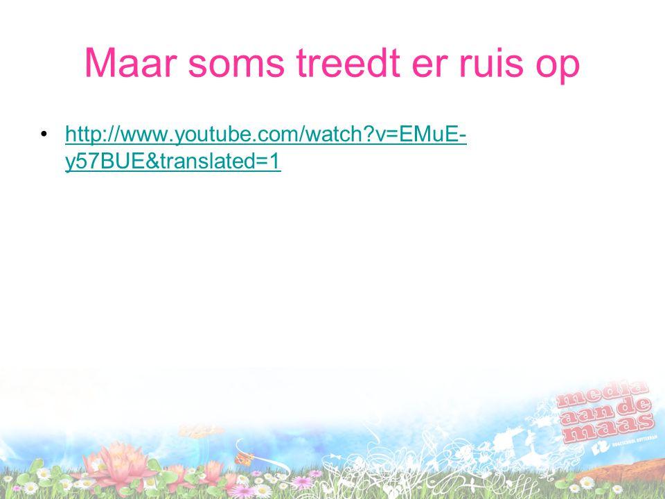Maar soms treedt er ruis op http://www.youtube.com/watch?v=EMuE- y57BUE&translated=1http://www.youtube.com/watch?v=EMuE- y57BUE&translated=1