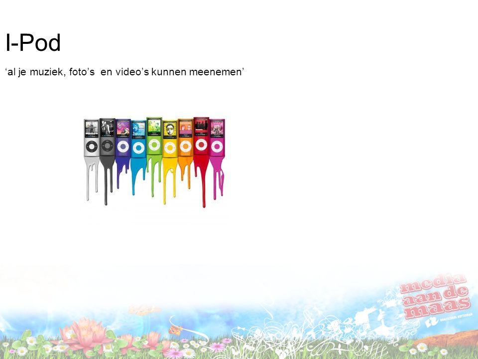I-Pod 'al je muziek, foto's en video's kunnen meenemen'