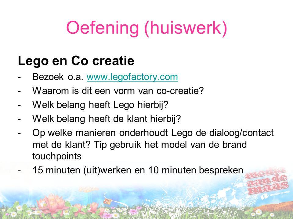 Oefening (huiswerk) Lego en Co creatie -Bezoek o.a.
