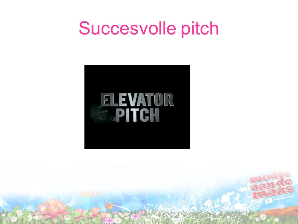 Succesvolle pitch