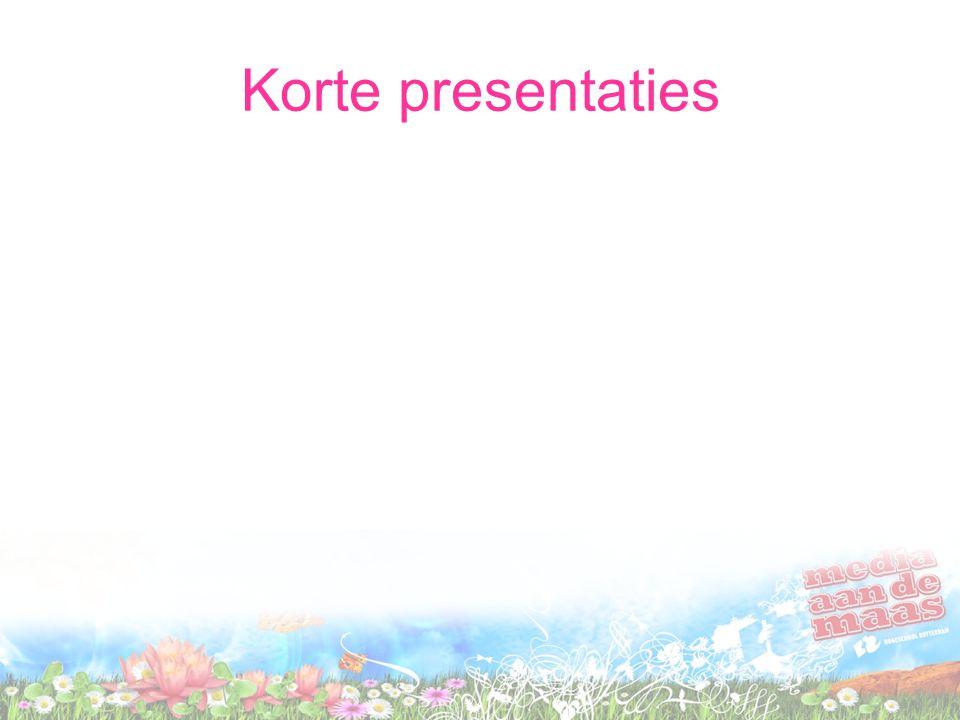 Korte presentaties