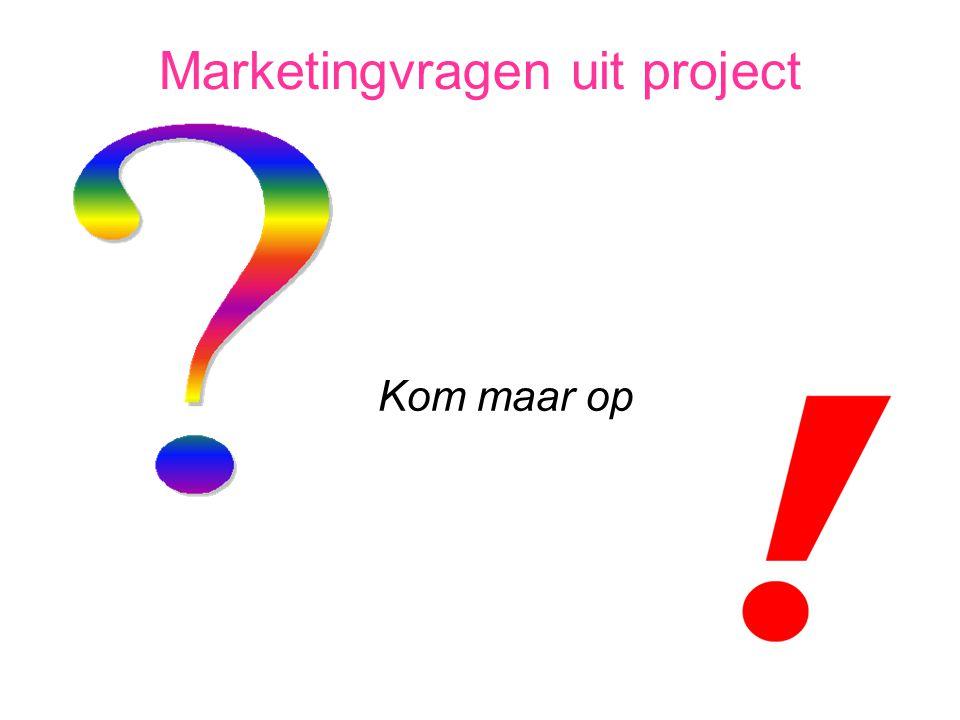 Marketingvragen uit project Kom maar op