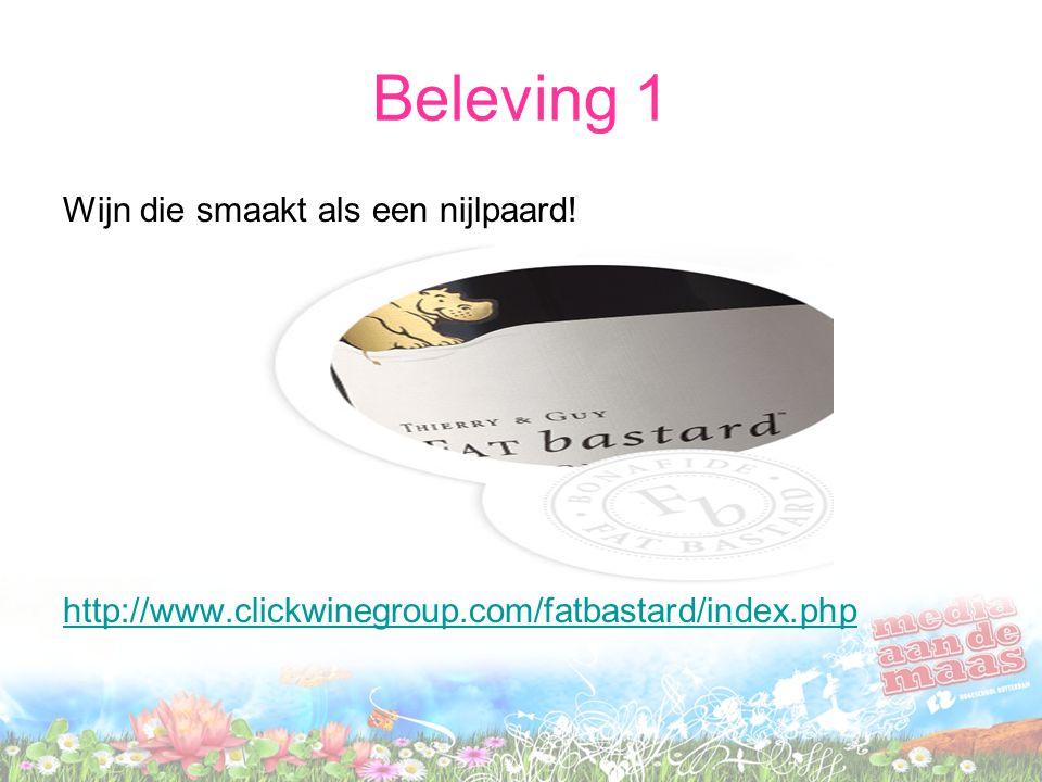 Beleving 1 Wijn die smaakt als een nijlpaard! http://www.clickwinegroup.com/fatbastard/index.php