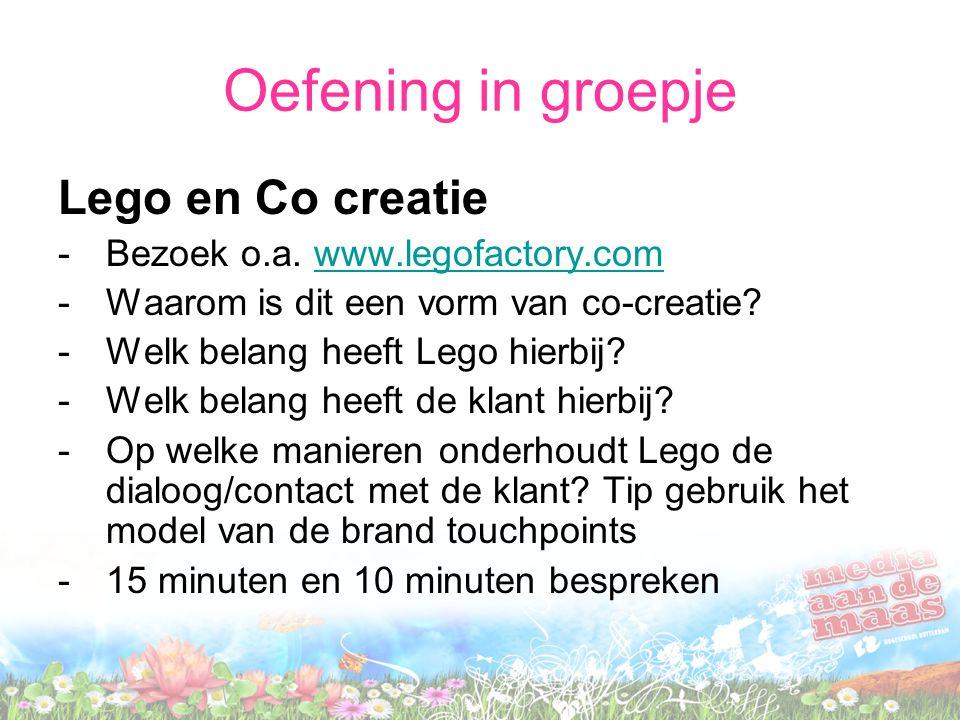 Oefening in groepje Lego en Co creatie -Bezoek o.a.