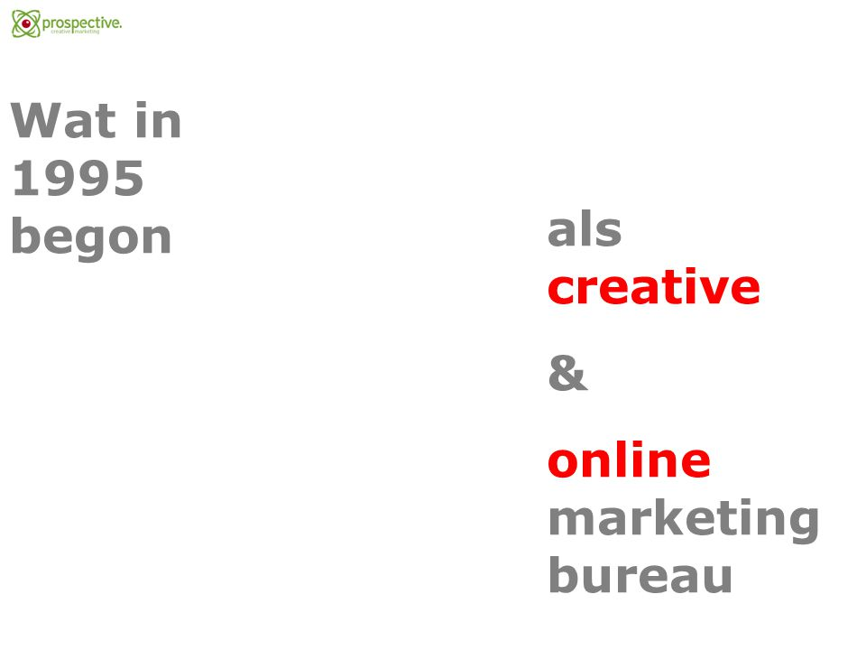 Wat in 1995 begon als creative & online marketing bureau