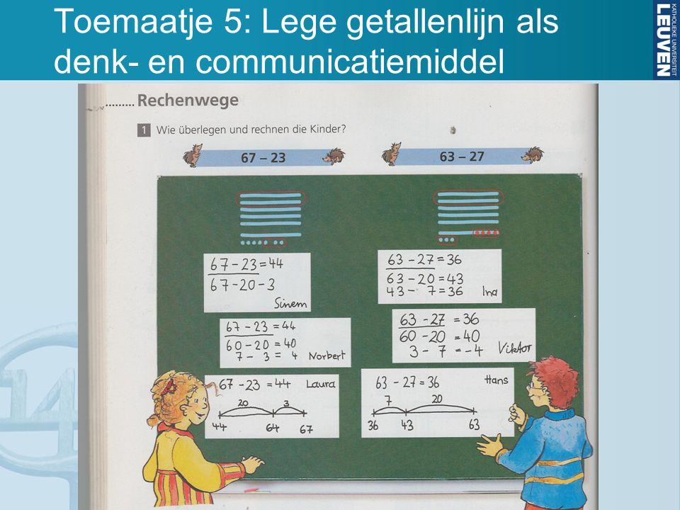 Toemaatje 5: Lege getallenlijn als denk- en communicatiemiddel