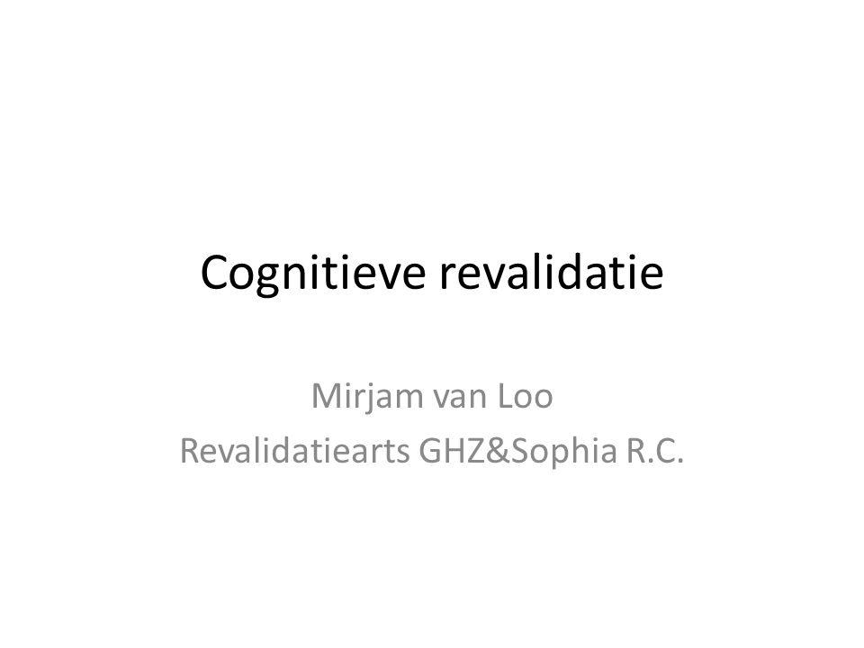 Inhoud van workshop Voorstelronde Algemene informatie Cognitieve diagnostiek – Acute fase – Subacute/chronische fase Cognitieve revalidatie – Acute fase – Subacute/chronische fase