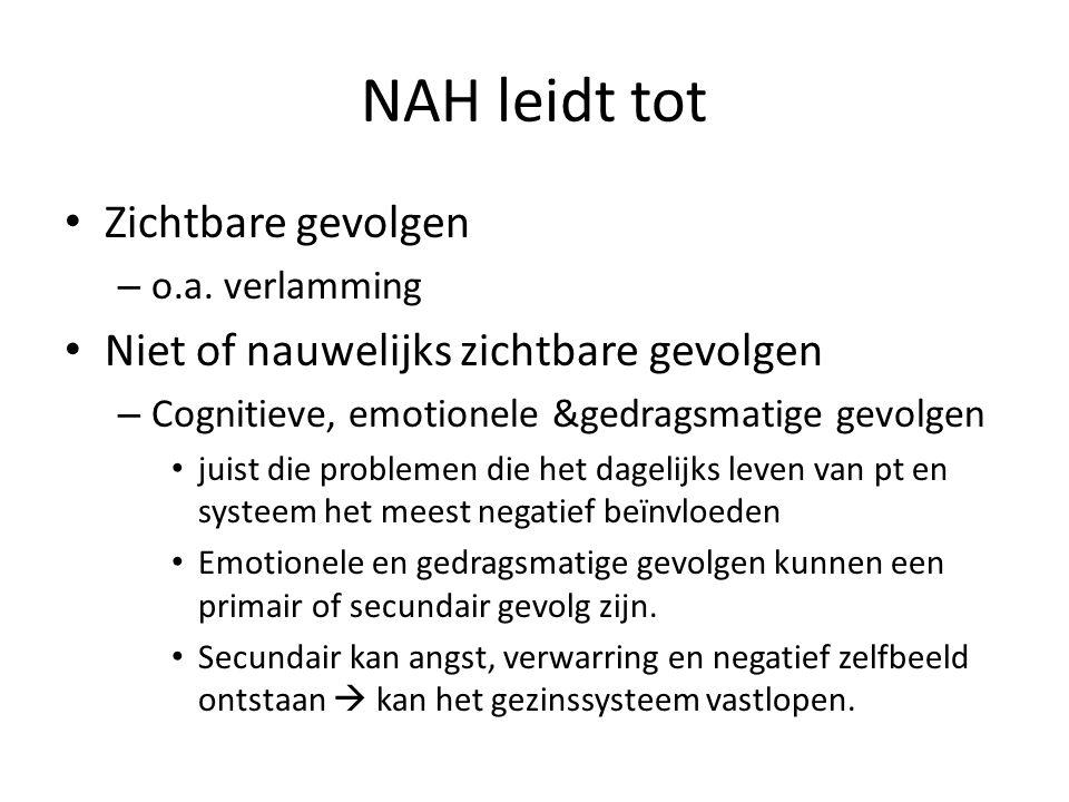 neuropsychologische revalidatie de behandeling van patiënten met cognitieve, emotionele, sociale en gedragsmatige gevolgen van hersenletsel en/of behandeling van het systeem, gericht op het zo goed mogelijk omgaan met deze gevolgen.