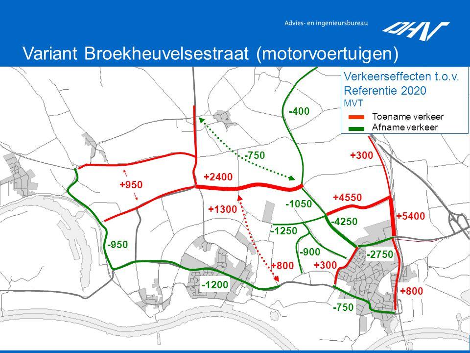 12 Variant Broekheuvelsestraat (motorvoertuigen) Verkeerseffecten t.o.v.
