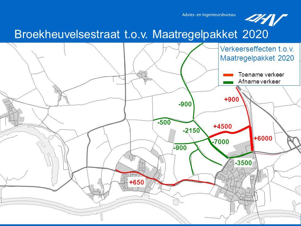 14 Broekheuvelsestraat t.o.v. Maatregelpakket 2020 Verkeerseffecten t.o.v.