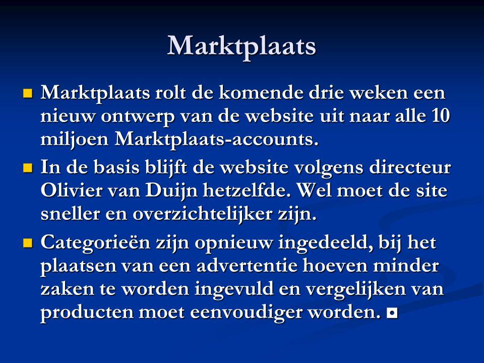 Marktplaats Marktplaats rolt de komende drie weken een nieuw ontwerp van de website uit naar alle 10 miljoen Marktplaats-accounts.