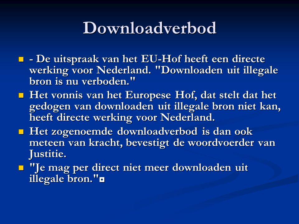 Downloadverbod Stichting de Thuiskopie wil de heffingen in stand houden, maar de fabrikanten van blanco schijfjes zijn faliekant tegen.