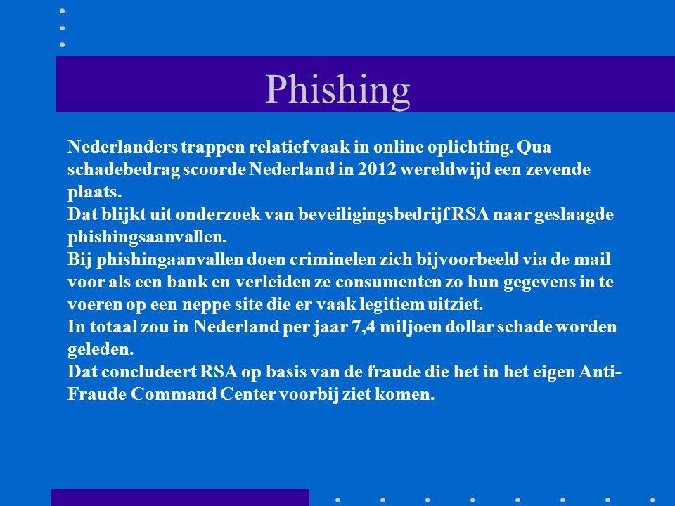 Phishing Nederlanders trappen relatief vaak in online oplichting.