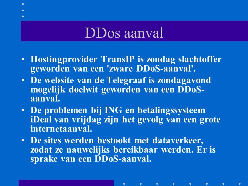 DDos aanval Hostingprovider TransIP is zondag slachtoffer geworden van een zware DDoS-aanval .