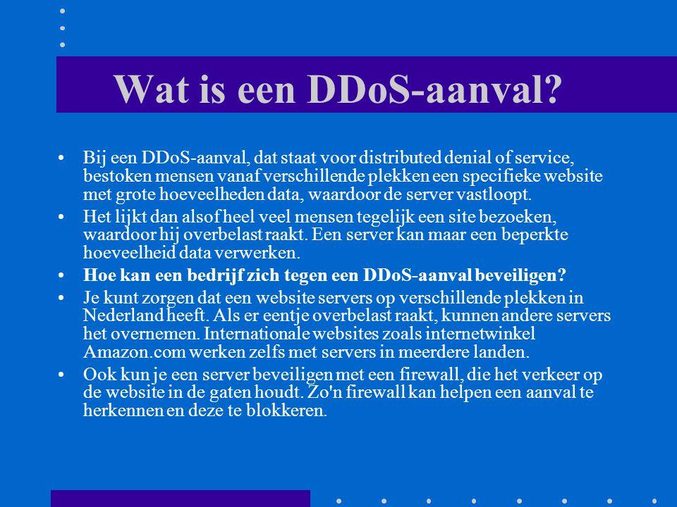 Wat is een DDoS-aanval.