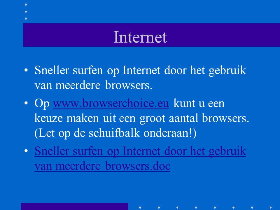 Internet Sneller surfen op Internet door het gebruik van meerdere browsers.