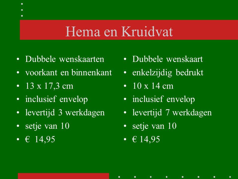 Hema en Kruidvat Dubbele wenskaarten voorkant en binnenkant 13 x 17,3 cm inclusief envelop levertijd 3 werkdagen setje van 10 € 14,95 Dubbele wenskaar