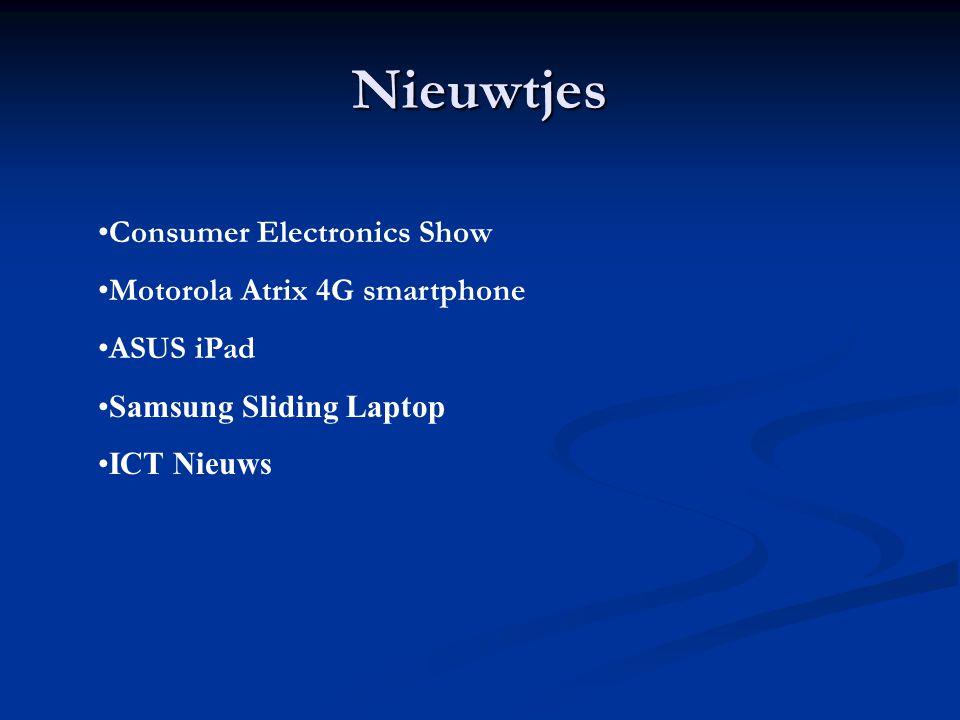 CES Op de Consumer Electronics Show in Las Vegas (6-8 januari ) zijn weer een aantal nieuwe zaken gepresenteert.
