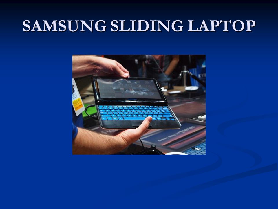 SAMSUNG SLIDING LAPTOP