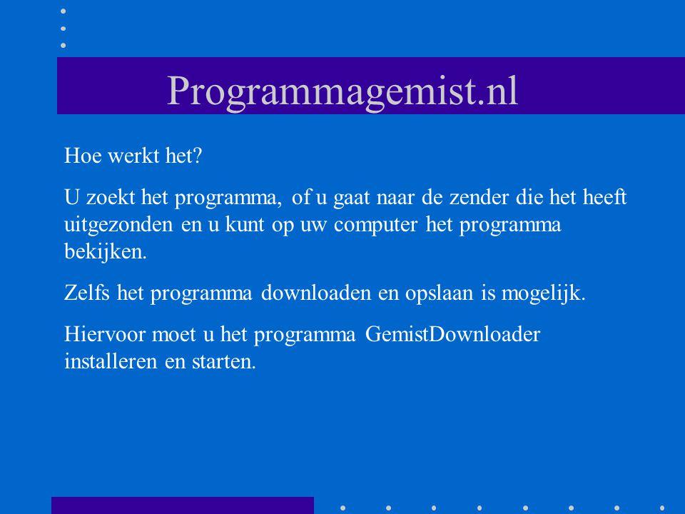 Programmagemist.nl Hoe werkt het.
