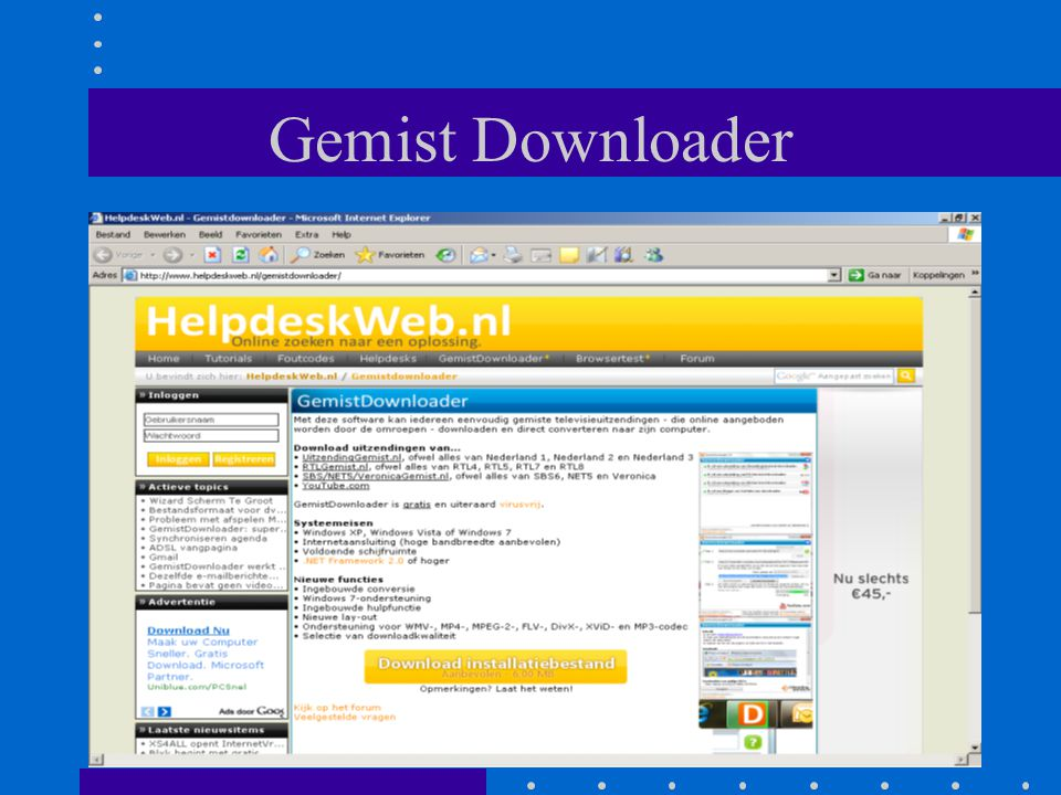 Gemist Downloader