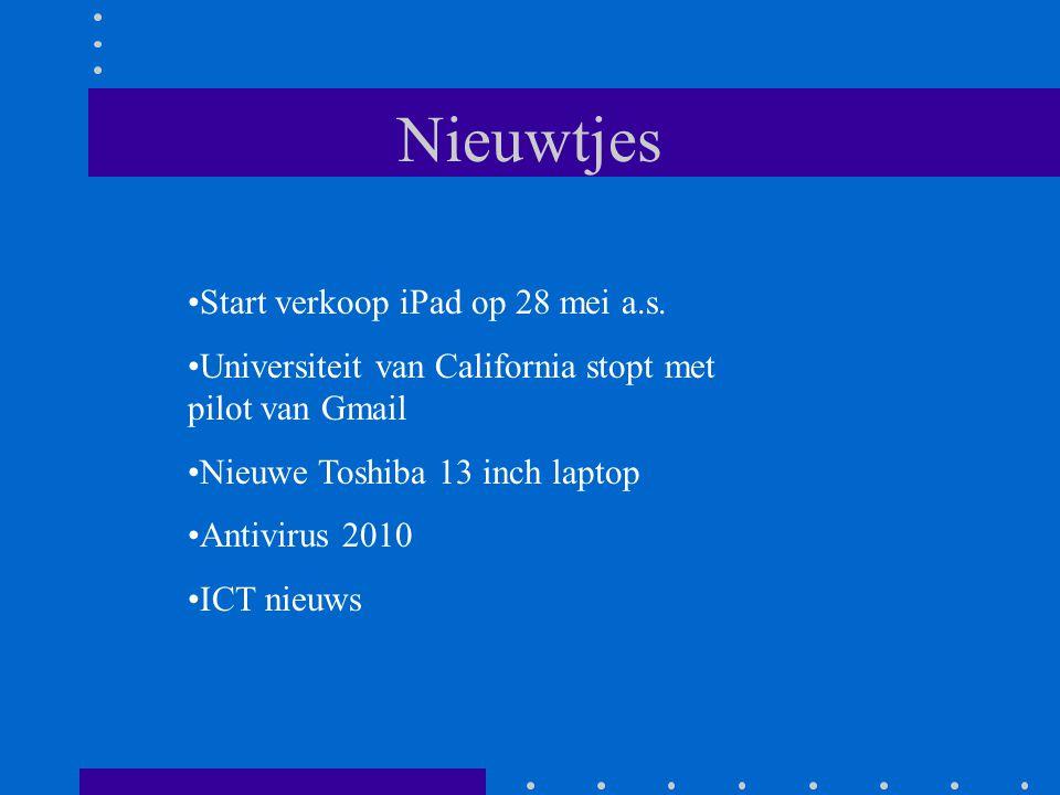Nieuwtjes Start verkoop iPad op 28 mei a.s.