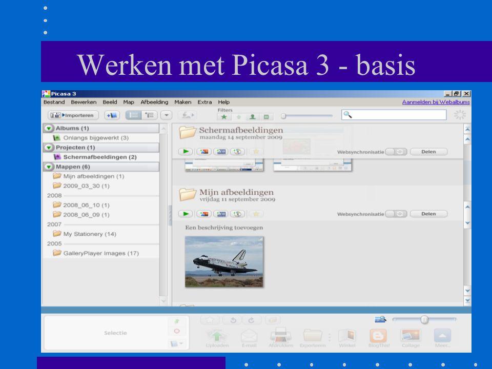 Werken met Picasa 3 - basis