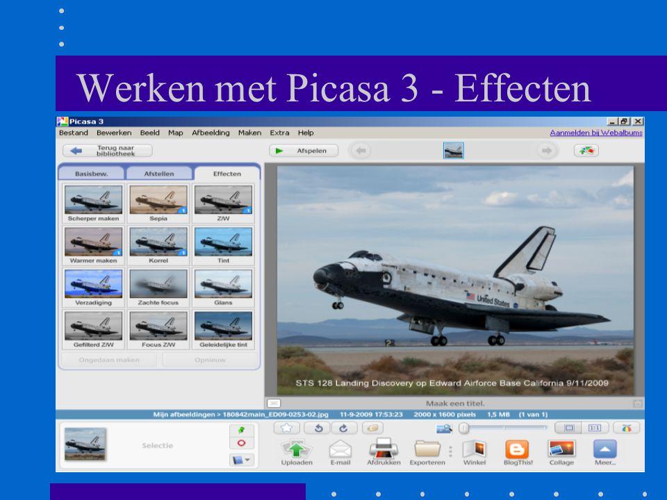 Werken met Picasa 3 - Effecten