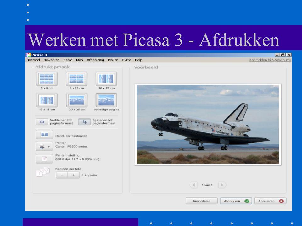 Werken met Picasa 3 - Afdrukken