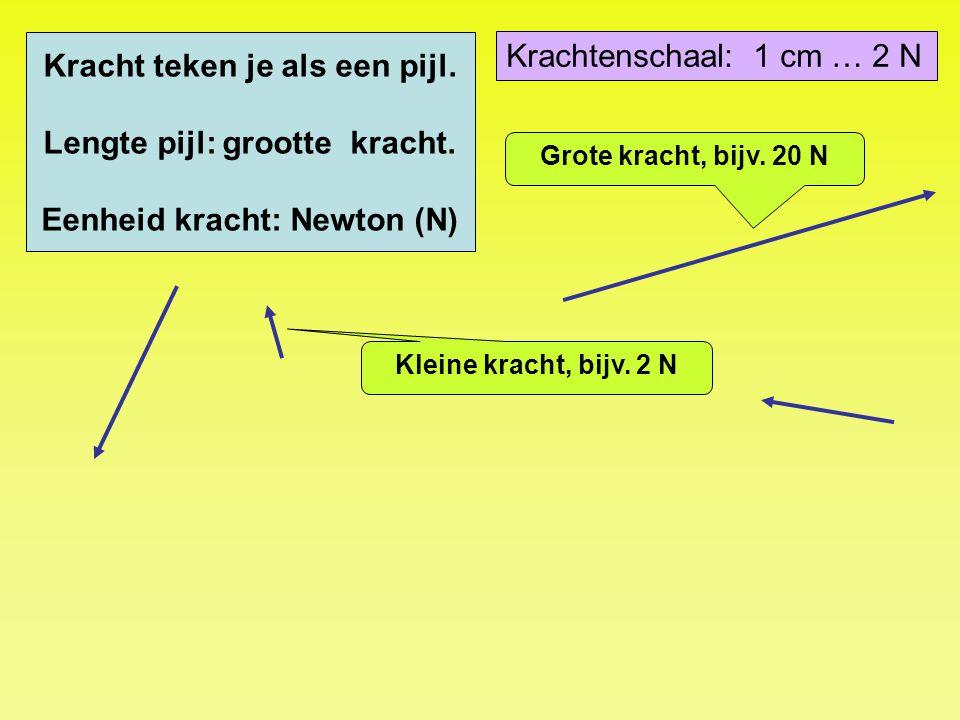 6000 N Krachtenschaal: 1 cm … 2000 N 4250 N Actiekracht