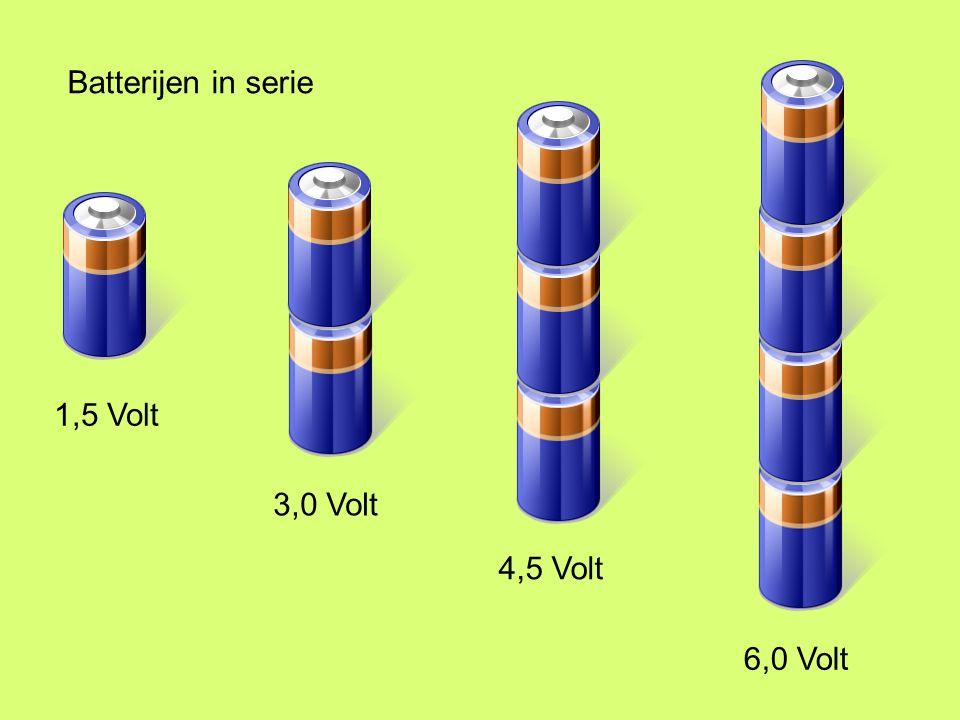 1,5 Volt 3,0 Volt 4,5 Volt 6,0 Volt Batterijen in serie