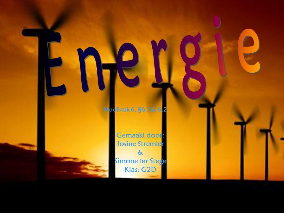 Nog meer soorten energie… Een ventilator is een voorbeeld van elektrische energie.