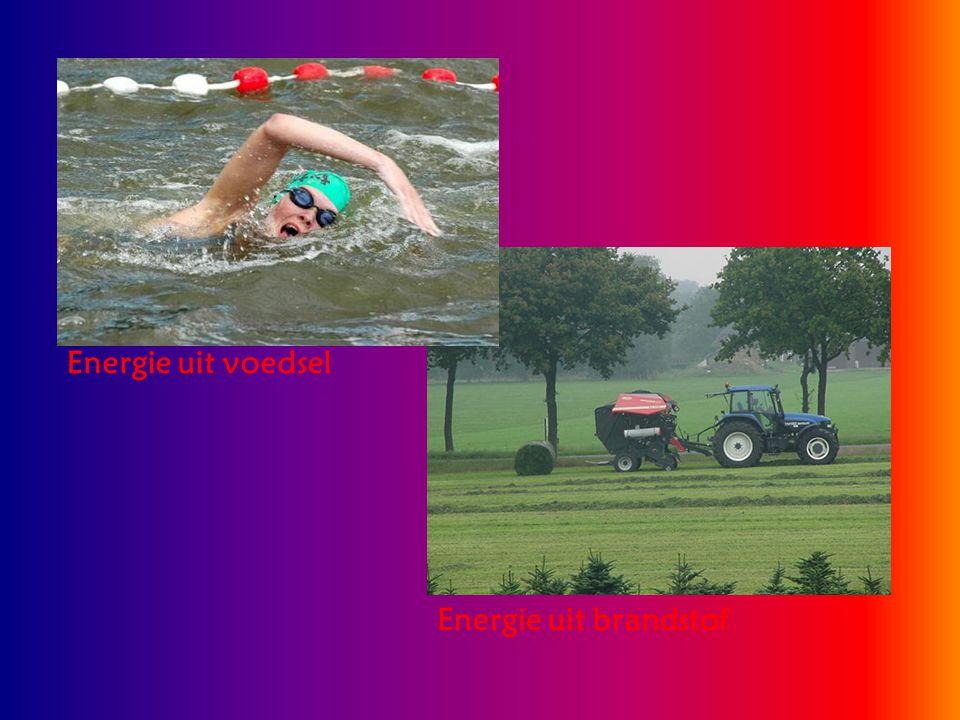 Bewegingsenergie Alles wat beweegt heeft bewegingsenergie.