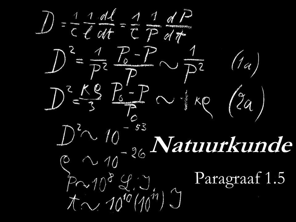 Natuurkunde Paragraaf 1.5