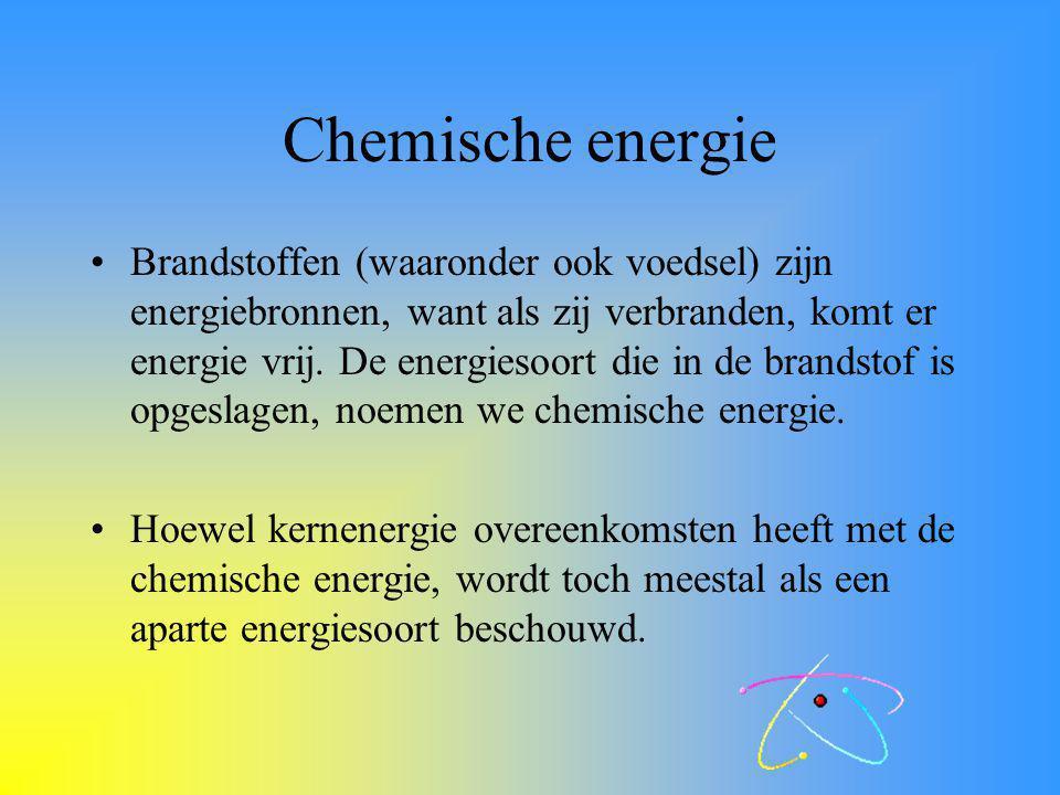 Energiebronnen en energiesoorten  Met energie kun je arbeid verrichten.  Onze voornaamste energiebron is voedsel.  Het symbool voor energie: E.  D