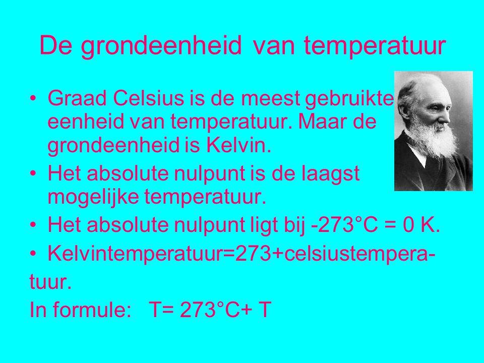 De grondeenheid van temperatuur Graad Celsius is de meest gebruikte eenheid van temperatuur.