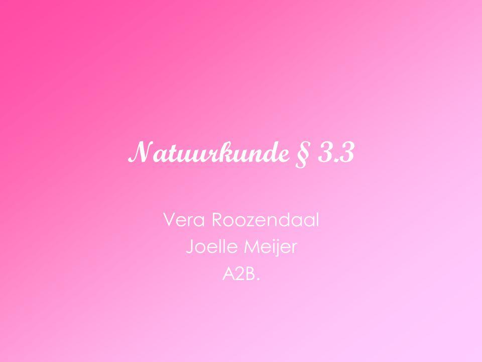 Natuurkunde § 3.3 Vera Roozendaal Joelle Meijer A2B.