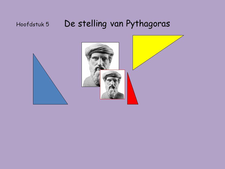 Hoofdstuk 5 De stelling van Pythagoras