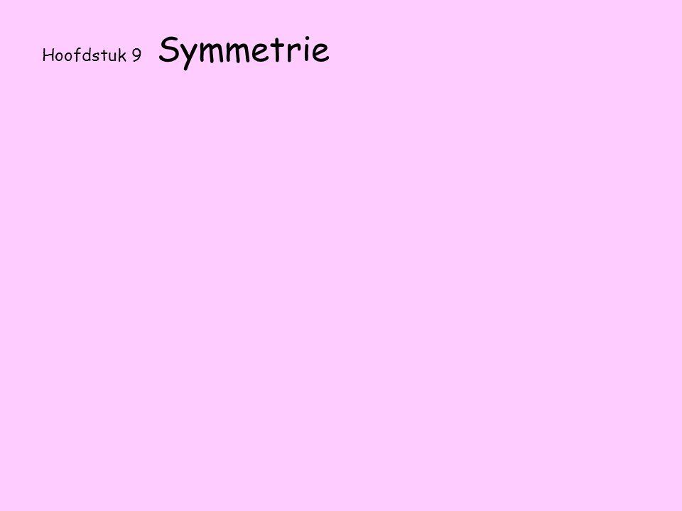9.1 Vouwsymmetrie Als je een figuur of tekening kunt dubbelvouwen noemen we dat vouwsymmetrisch.