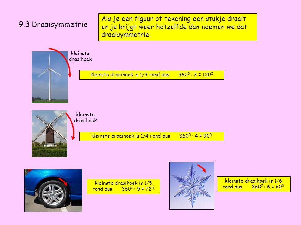Huiswerk voor de volgende les: 9.3 32 t/m 37