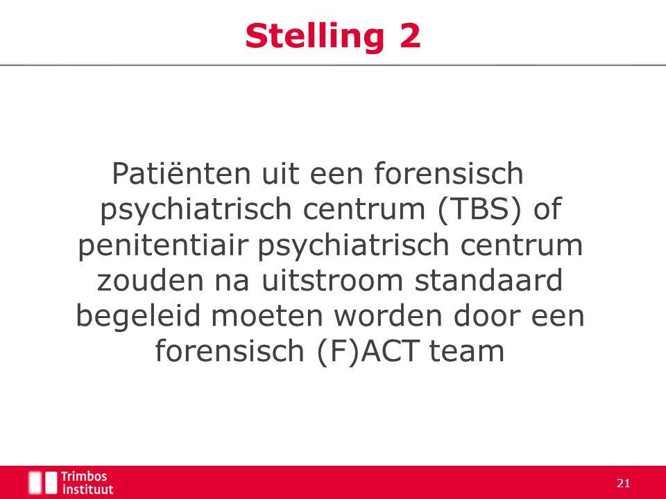 Patiënten uit een forensisch psychiatrisch centrum (TBS) of penitentiair psychiatrisch centrum zouden na uitstroom standaard begeleid moeten worden do