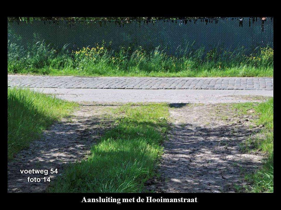 Aansluiting met de Hooimanstraat