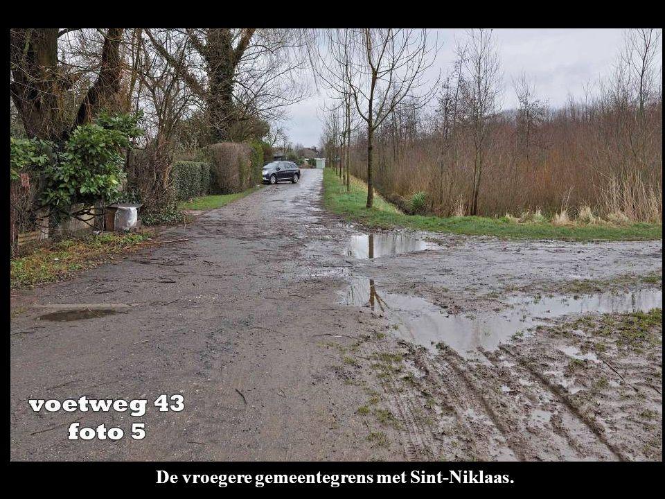 De vroegere gemeentegrens met Sint-Niklaas.