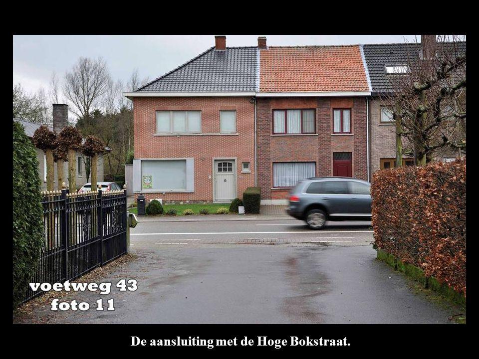 De aansluiting met de Hoge Bokstraat.