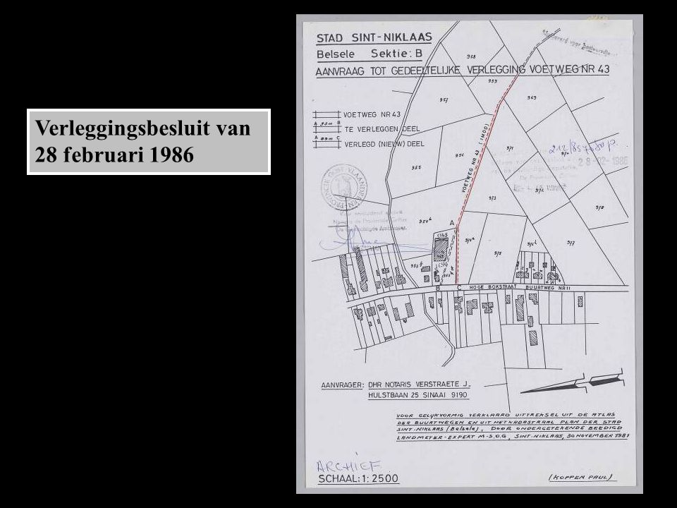 Verleggingsbesluit van 28 februari 1986