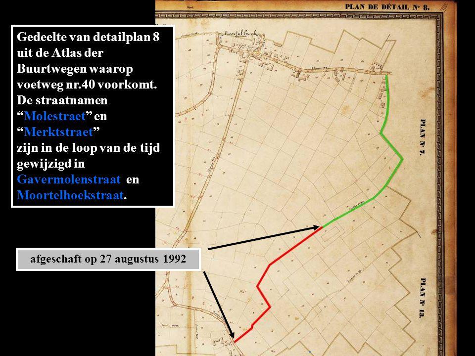Gedeelte van detailplan 8 uit de Atlas der Buurtwegen waarop voetweg nr.40 voorkomt.
