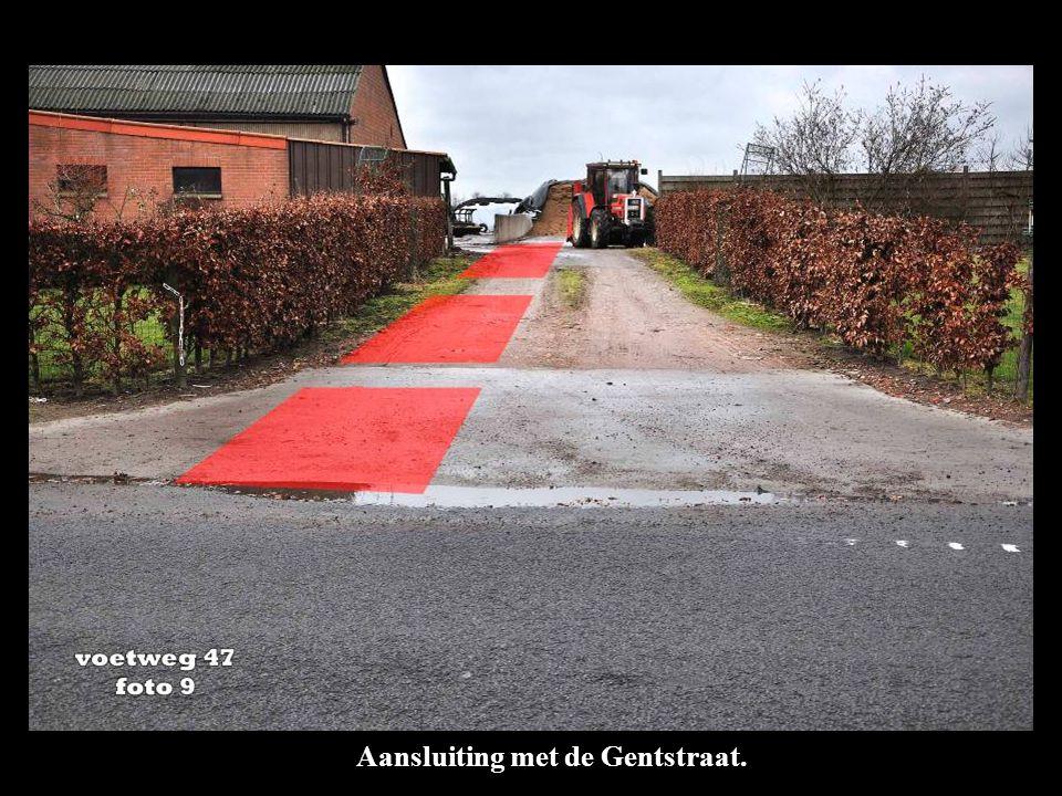 Aansluiting met de Gentstraat.